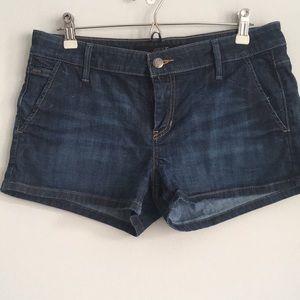 Joe's Jean Shorts Dark Wash